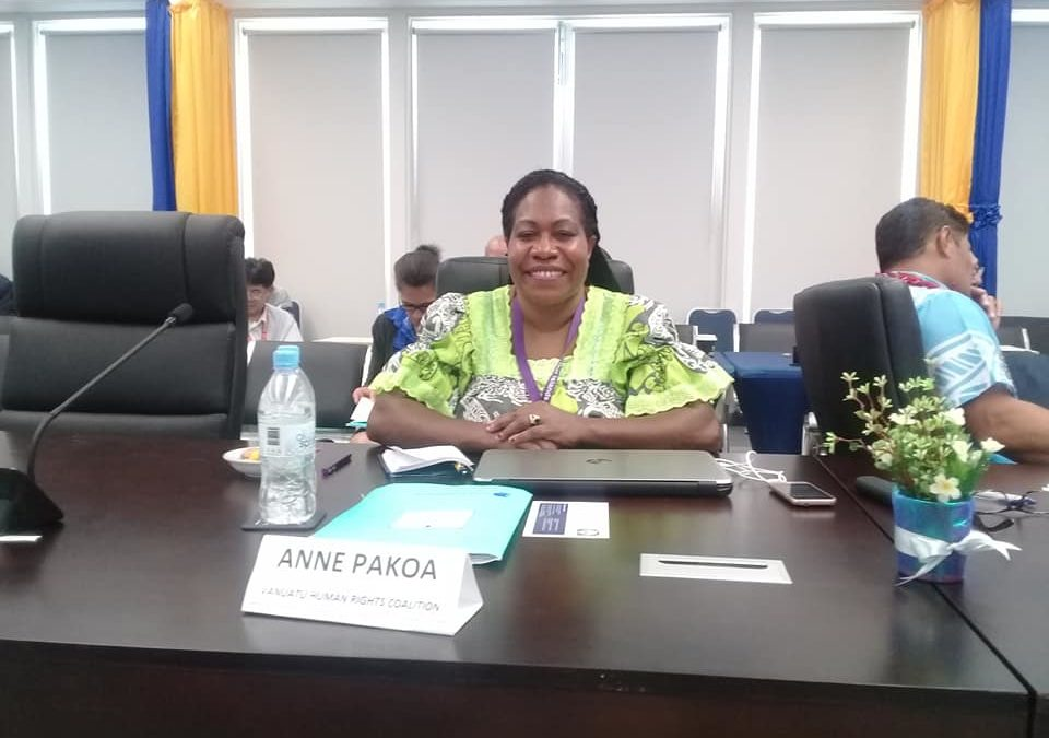 """""""A Stronger Voice than Ever"""" :  Talking with Vanuatu Human Rights Coalition's Anne Pakoa"""